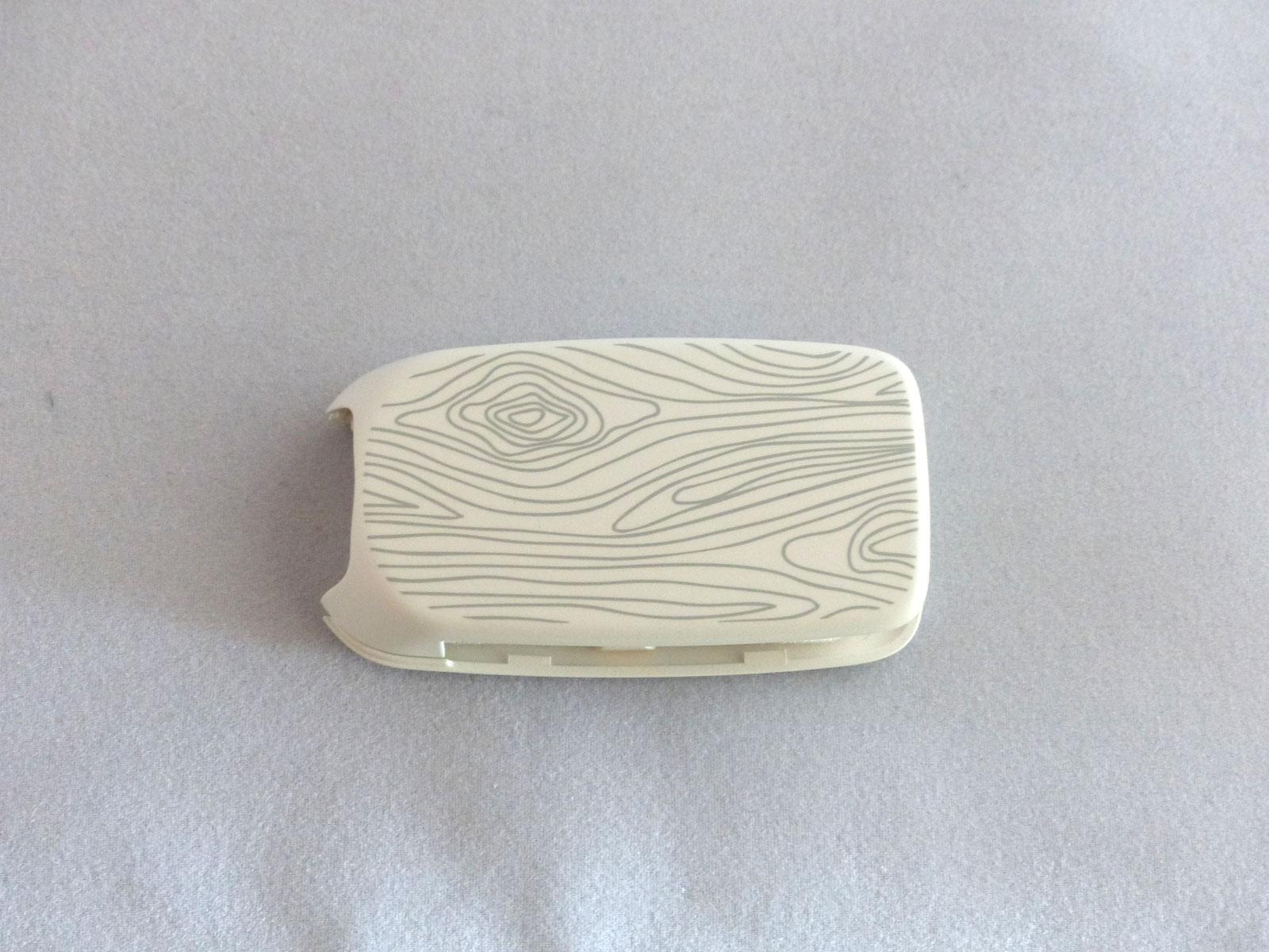 1x Schlüsselschale Schlüsselcover Fiat TIPO 500X weiß Ornamente Muster