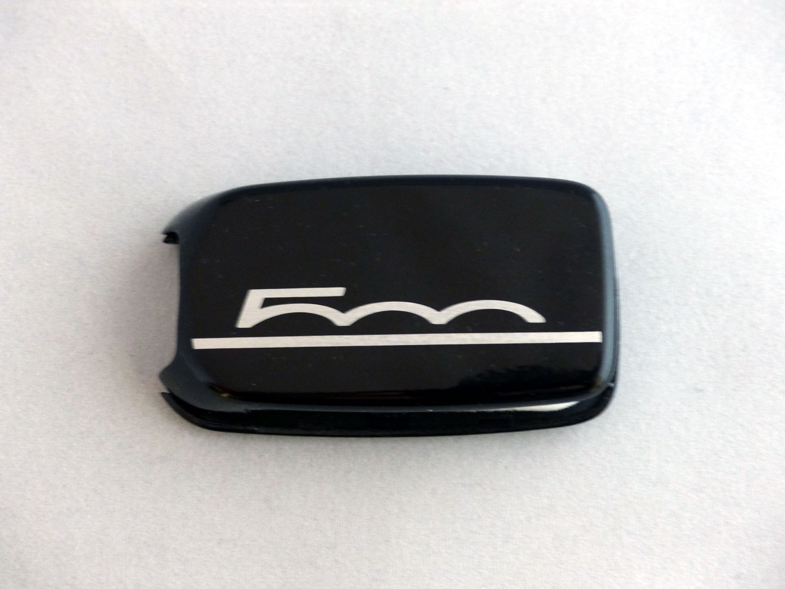 1x Schlüsselschale Schlüsselcover Fiat 500X Aufdruck 500 in schwarz