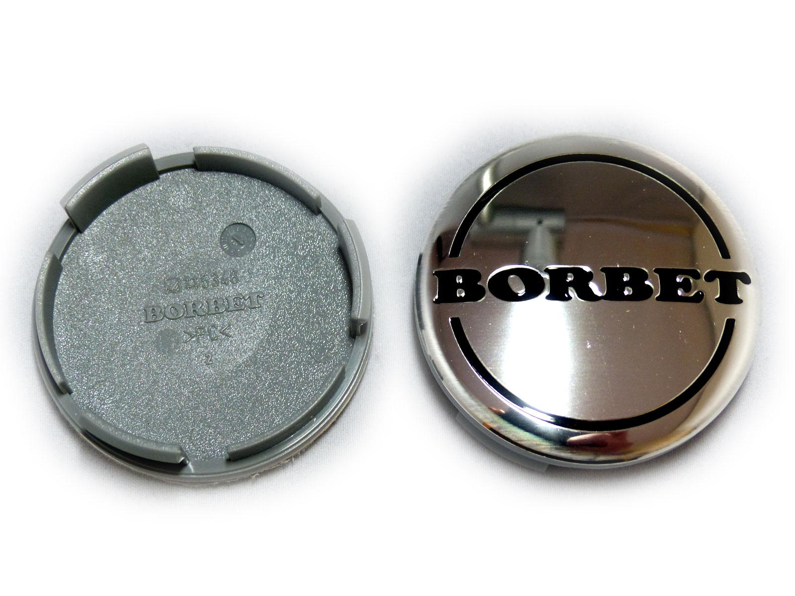 Borbet 56 mm Nabenkappe Nabendeckel Felgendeckel Chrom glänzend Alufelgen