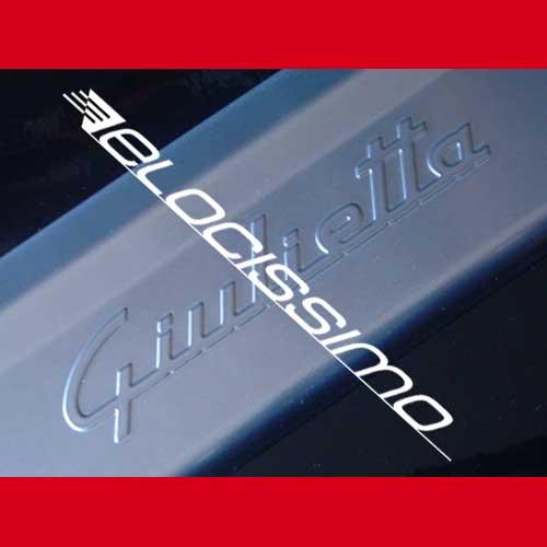 Alfa Romeo Giulietta Einstiegsleisten Schriftzug Alu