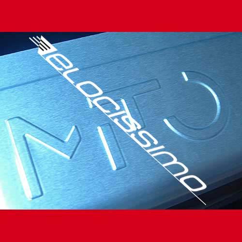 Alfa Romeo 955 MITO Passform Einstiegsleisten Schriftzug Emblem silber NEU