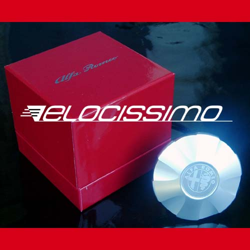 Alfa Romeo Tankdeckel Aluminum Tankverschluß Emblem silber original NEU
