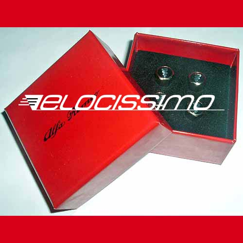 Alfa Romeo Ventilkappen Box 4x Logo Schlange Emblem NEU
