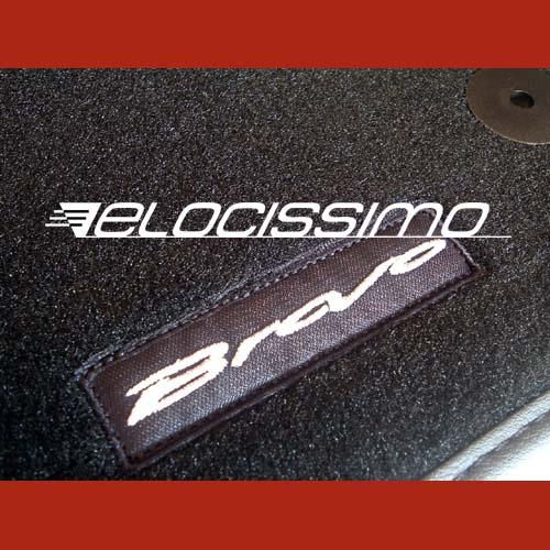 Fiat Bravo Teppich Fußmatten Velour Logo Schrift Borte Typ