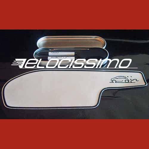 Fiat 500 Schreibtafel weiß Armaturenbrett Etui Stift Schwamm