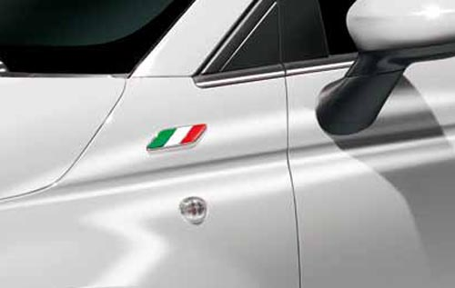 Fiat 500 U A Sticker Aufkleber Badge Italien Fahne Flagge