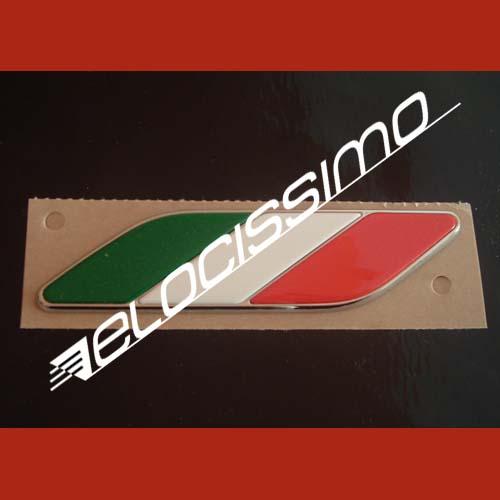 Fiat 500 u. a. Sticker Aufkleber Badge Italien Fahne Flagge Chrom 2 St. NEU OVP