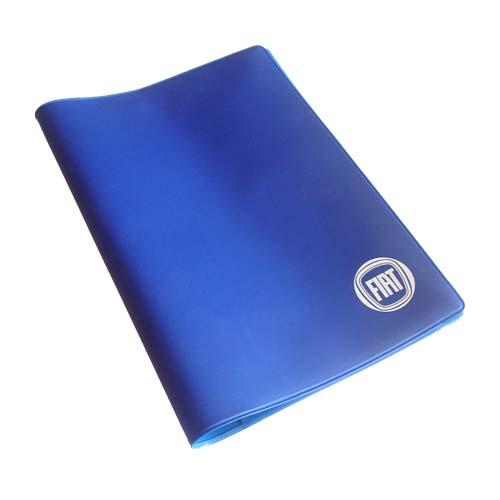 Fiat Bordmappe blau universal Bordbuch Hülle Logo neu Ducato 500 Evo Dokumente