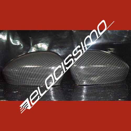 Fiat 500 Grande Punto EVO Abarth Carbon Spiegel Spiegelkappen Cover biposto NEU
