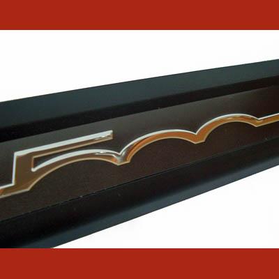 Fiat 500 Einstiegsleisten schwarz Logo Chrom Emblem NEU