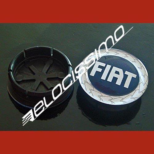 Fiat Nabenkappe Felgendeckel Nabendeckel blau 50 mm altes Logo NEU