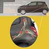 Aufkleber Autofolie Sticker Decal Mohnblume 3 Stück Renault Twingo Clio