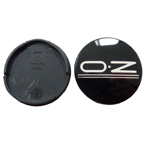 OZ Alufelgen Nabendeckel Nabenkappen Felgendeckel schwarz glänzend 55mm M582
