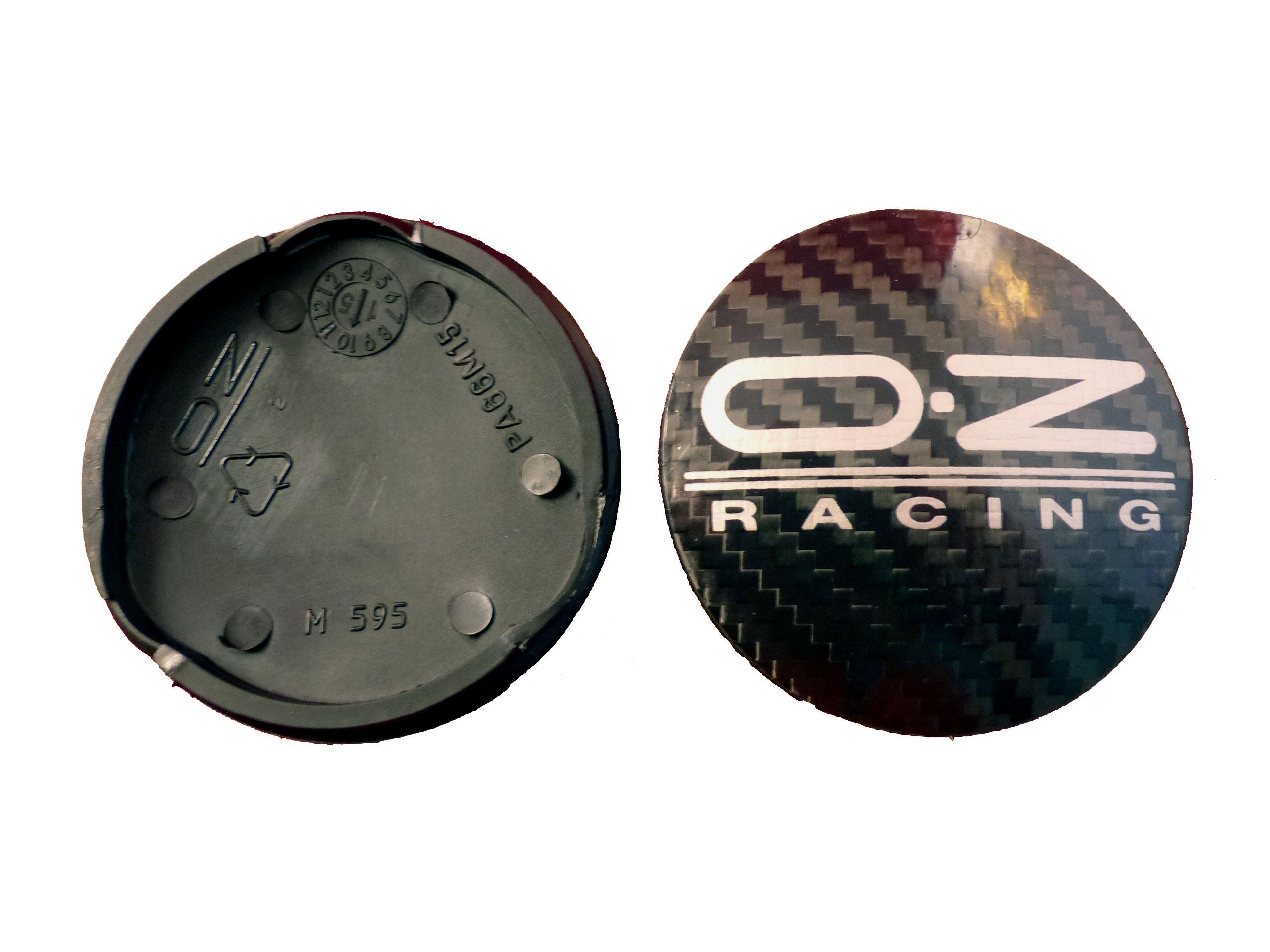 OZ Nabendeckel Nabenkappen Felgendeckel Carbon schwarz 62mm M595 Alufelgen