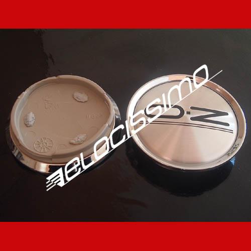 OZ Nabendeckel Nabenkappen Felgendeckel Chromring Chromkranz Silber 62mm
