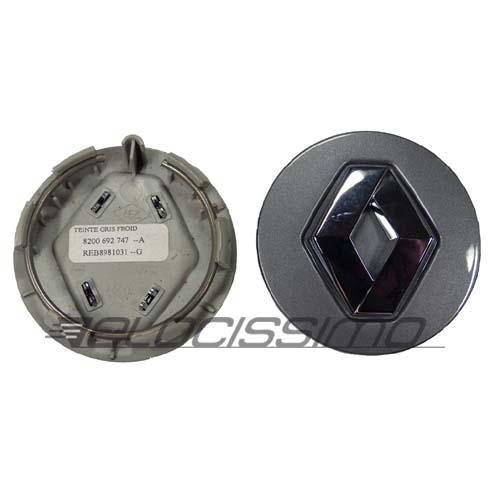 Renault Nabendeckel Nabenkappe Felgendeckel grau original Alufelgen 57mm